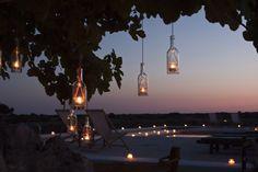 Hanging candles - Velas colgantes - #laiasegui #weddings #menorca