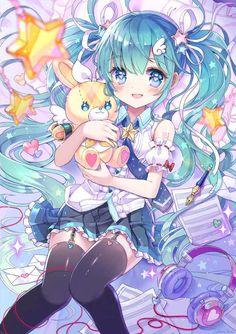 New Wallpaper Anime Manga Hatsune Miku 60 Ideas Manga Anime, Anime Chibi, Manga Girl, Girls Anime, Anime Girl Cute, Beautiful Anime Girl, I Love Anime, Anime Art Girl, Hetalia Anime