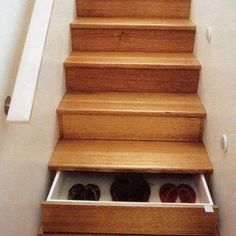 I'm not 100% sold... I feel like I'd find a way to fall walking down and accidentally opening one and I can imagine the amount of dirt collecting in the drawers, but I like the concept.