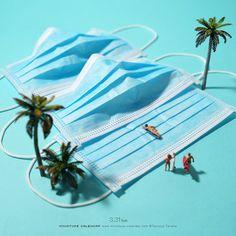 Surf's Up! Creative Photography, Art Photography, Foto Macro, Miniature Calendar, Miniature Photography, Digital Museum, Grafik Design, Art Plastique, Art Direction