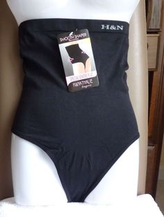 String Gaine Ventre plat serre taille minceur lingerie femme Noir XL/XXL 42 neuf