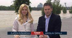 Včera ste mohli Televízne noviny sledovať priamo z bratislavského nábrežia: http://www.omediach.com/tv/item/1745-televizne-noviny-mimoriadne-pri-vylievajucom-sa-dunaji