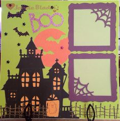 Close to My Heart Artbooking cartridge, Scaredy Cat paper & Assortments