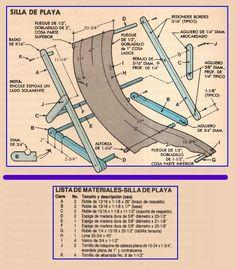 CONSTRUYA SILLAS PORTATILES NOVIEMBRE 1985 003AA LISTA DE MATERIALES SILLA DE PLAYA 2 copia