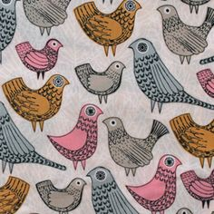 Bark & Branch : Birdsong by Eloise Renouf for Cloud9 Fabrics 【オーガニックコットン】【Cloud9 Fabrics】