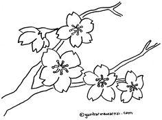 Gambar Bunga Sakura Untuk Diwarnai