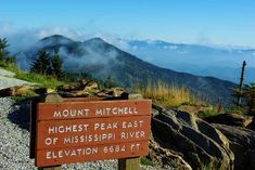 The summit of Mt Mitchell in North Carolina, the highest mountain east of the Rockies
