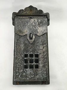 Vintage Black Hammered Cast Aluminum Wall Mount Lockable Mailbox | eBay