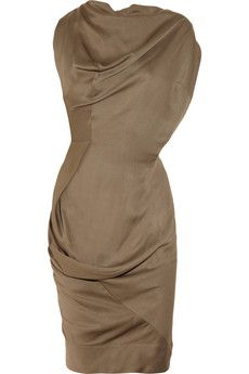 Vivienne Westwood Anglomania Fond draped twill dress | THE OUTNET