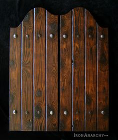 Rusitc swinging bar doors