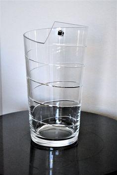 Carlo Moretti Ribbon LED Lamp | Vintage Carlo Moretti Glass | Handblown Murano Glass | Clear Murano Glass Lamp | Signed Art Carlo Moretti by ChalksOLot on Etsy