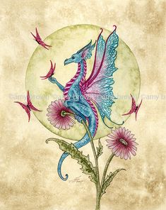 Fairy Art Artist Amy Brown: The Official Online Gallery. Fantasy Art, Faery Art, Dragons, and Magical Things Await. Amy Brown Fairies, Dark Fairies, Pencil Drawings Of Flowers, Fairy Drawings, Dragon Pictures, Dragon Pics, Beautiful Dragon, Dragon Artwork, Cute Dragons