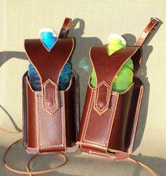 latigo leather water bottle holders from kenleatherworks.com