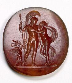 Description: VENUS AND MARS [EMBRACING, CUPID IS HOLDING A SWORD]