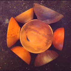 Wooden bowls I turned.   'posing for a picture.