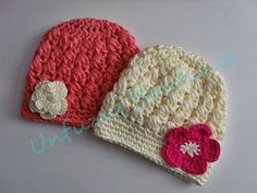 Candy Puffs Beanie (crossed over puff stitches) Sizes newborn to adult/adult slouchy