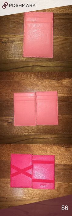 J. Crew flip and fold wallet This wallet is perfect for when you want to lighten the load and only carry the essential cards or to consolidate the amount of cards you carry, perfect for a small cross body! J. Crew Bags Wallets