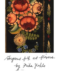 folk art flowers by frida kahlo