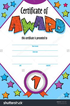 The awesome Template Child Certificate To Be Awarded. Kindergarten Inside Free Kids Certificate Templates image below, is other parts of … Free Printable Certificate Templates, Certificate Of Achievement Template, Education Certificate, Certificate Design Template, Certificate Of Appreciation, Templates Free, Free Printables, Sports Day Certificates, Award Certificates