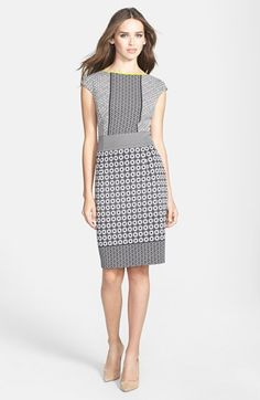 Maggy London Scuba Sheath Dress http://rstyle.me/n/ecweqr9te