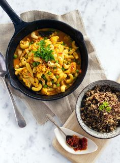 This simple vegetarian curry is so much more than it appears. The flavours are lovely and it contains a deliciously greedy amount of cashew nuts. I like to serve it with a little sambal oelek or lime pickle on the side.