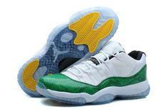 42e273d8775 Nike Air Jordan Xi 11 Retro Mens Shoes Green White Discount Code