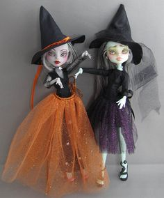 Monstruo alto Dolls patrón de bruja de Halloween por KristineAnns