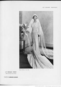 Modes (Paris) 1935  Wedding Dress. Germaine Lecomte.