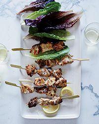 Chicken Caesar Skewers Recipe on Food & Wine