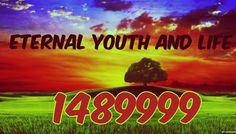 Numerical order 1489999, REPRESENTING eternal youth and eternal life.  If you…
