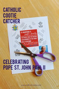 Ever made a cootie catcher? How about one for Pope St. John Paul II? No? Now's your chance, friends!