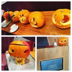 Pumpkin carving here at L'Ortolan 🎃