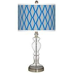 Bleu Matrix Giclee Apothecary Clear Glass Table Lamp