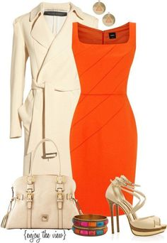 Cute Outfits Perfect Fall Outfit for Date Night Komplette Outfits, Fall Outfits, Fashion Outfits, Womens Fashion, Office Outfits, Classy Outfits, Orange Outfits, Summer Outfits, Stylish Work Outfits