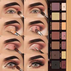 Eye Make-up - Look at another tutorial of eyes for us to train ! Eye Make-up – Olha mais um tutorial de olhos para a gente treinar! E aí gosta… Eye Make-up – Look at another tutorial of eyes for us to train ! Glam Makeup, Cute Makeup, Skin Makeup, Makeup Inspo, Eyeshadow Makeup, Makeup Inspiration, Eyeshadows, Eyeshadow Tips, Drugstore Makeup