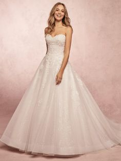 Chic and shimmery, this ballgown wedding dress features layers of beaded lace motifs, and sequin tulle with horsehair trim along the hemline. Complete with strapless sweetheart neckline. Finished with covered buttons over zipper and inner elastic closure. Sheath Wedding Gown, Lace Wedding Dress, Princess Wedding Dresses, Designer Wedding Dresses, Bridal Dresses, Wedding Gowns, Lace Dress, Tulle Ball Gown, Ball Gowns