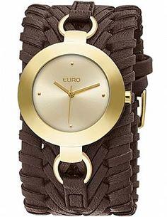 Relógio Feminino Euro Burgas EU2035UN/2M - Marrom