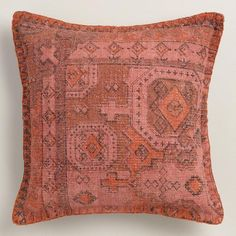 One of my favorite discoveries at WorldMarket.com: Rust Overdyed Cotton Throw Pillow