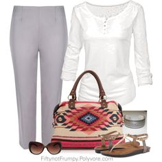 Casual Chic by fiftynotfrumpy on Polyvore featuring Fat Face, Clarks, Accessorize and MANGO