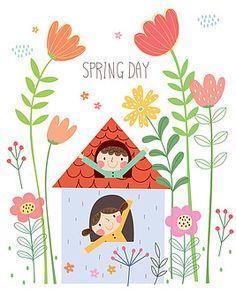 Spring Activities, Activities For Kids, Floral Doodle, Spring Day, Deco, Kindergarten, Doodles, Kids Rugs, Messages