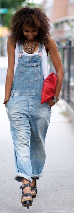 Vintage Denim Overall by