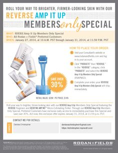 Members only Special!!