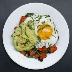 Sweet Potato Black Bean Hash by Tasty