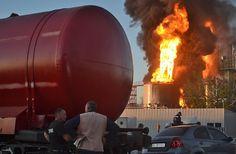 На нефтебазе под Киевом горят 8 резервуаров с топливом (обновлено) - портал новостей LB.ua