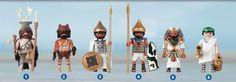 1. Cazador prehistórico 2. Guardián del fuego 3. Rey de Mesopotamia 4. Guardia del Faraón 5. Gran Faraón 6. Maestro griego