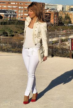 CREAM  #fashion #style #outfit  #look , Zara in Jackets, Zara (new collection) in Pants