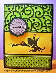 I can hear her shrieking from here... this is an ADORABLE halloween card!