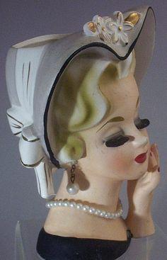 Vintage Lady Head Vase Napcoware |