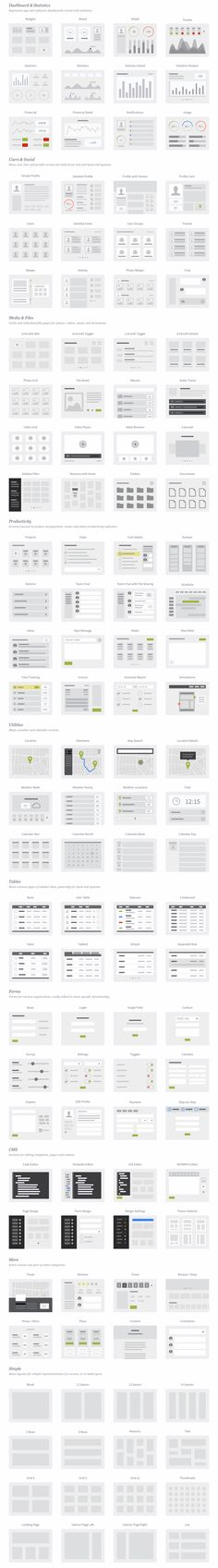 UX Kits UI Wireflows - Architecture, layout and flow for software interfaces. UX Kits UI Wireflows - Architecture, layout and flow for software interfaces. Wireframe, Design Development, Software Development, Web Design, Ui Patterns, Web Layout, Webpage Layout, Behance, Screen Design