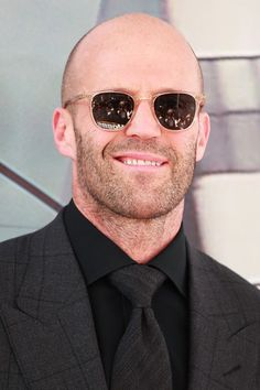 Jason Statham Photos - Jason Statham is seen outside the 'Hobbs and Shaw' Premiere at Dolby Theatre in Los Angeles, California. - Jason Statham At The 'Hobbs And Shaw' Premiere At Dolby Theatre Jason Statham, Shaved Hair Women, Nice Glasses, The Expendables, Classy Men, Hot Actors, Universal Pictures, Fast And Furious, Guy Pictures